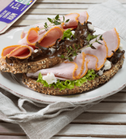 Open Brown Bread Sandwich