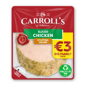 €3 Carroll's Value Crumbed Chicken 3D