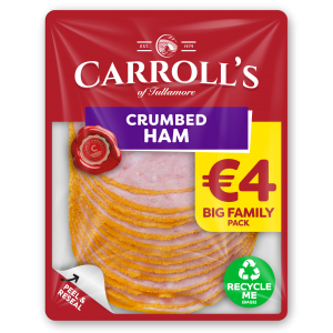 €4 Carroll's Family Pack Crumbed Ham 3D