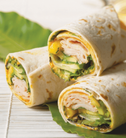 Ham Mango and Avocado Wrap