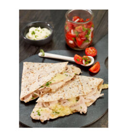 Quesadilla with Roast Chicken