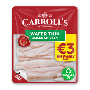 €3 Carroll's Family Pack Wafer Thin Chicken 3D